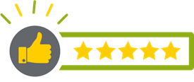 customer satisfaction five stars icon